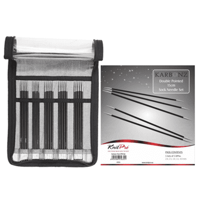 KnitPro KARBONZ Double Pointed Needle Set 15 cm