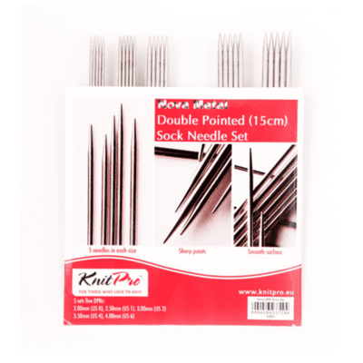KnitPro NOVA Metal Double Pointed Needle Set 15 cm