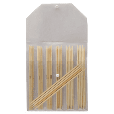 KnitPro Bamboo Double Pointed Needle Set 20 cm (2.00-5.00 mm)