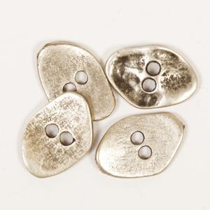 DROPS Angular silver button 20 mm (no. 534)