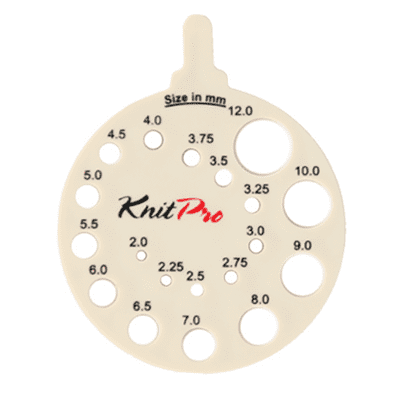 KnitPro Knitting Gauge Off White (2-12 mm)
