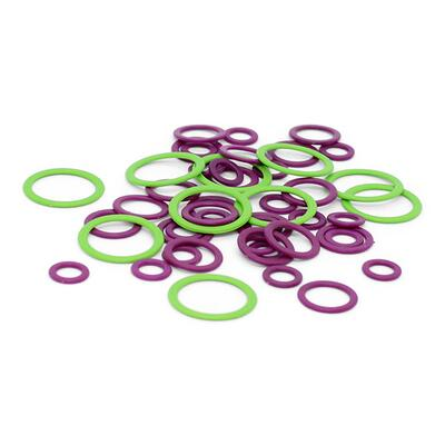 KnitPro Stitch Markers, locked rings (50 pcs)