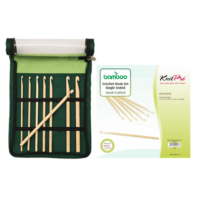 KnitPro Bamboo Crochet Hook Set 8 sizes (3.50-8.00 mm)