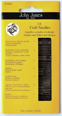John James asstd. needles, 33 pcs