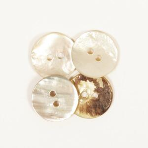 15 pcs 15mm round white stitched 2 hole wooden buttons sewing supplies