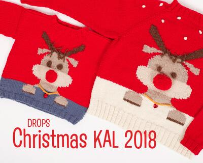 DROPS Christmas Knit-Along 2018 - Adult blouse