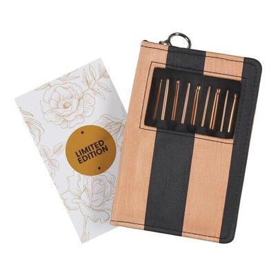 KnitPro Rose Gold Crochet Hook Set 9 sizes - Limited Edition