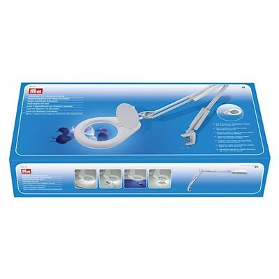 Prym LED Magnifying glass with lamp and clamp