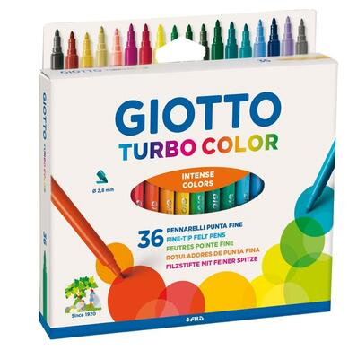 Giotto Turbo Color Tusser, 36 stk