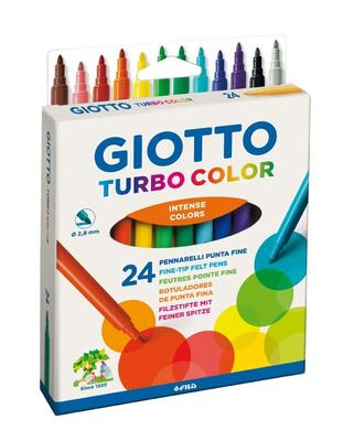 Giotto Turbo Color Tusser, 24 stk