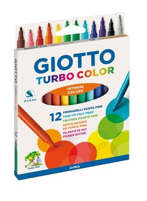 Giotto Turbo Color Tusser, 12 stk