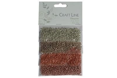 Craft Line Glasperler 2 mm, 4 x 10 g