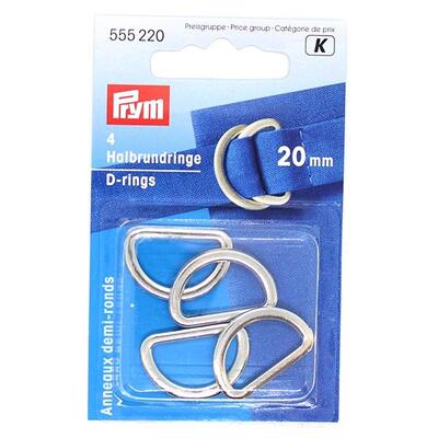 Prym D-rings, 20 mm, 4 pcs