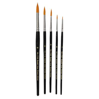 Gold Line Paintbrushes Round 2-7 mm, 5 pcs