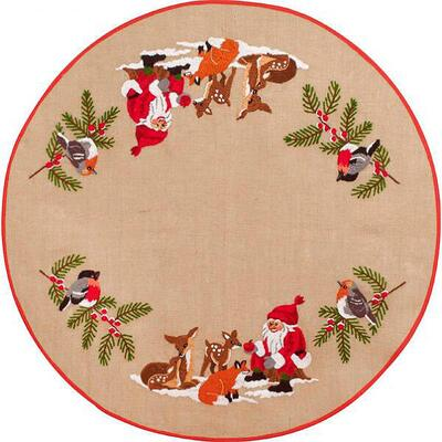 Christmas tree carpet Embroidery kit In the forest