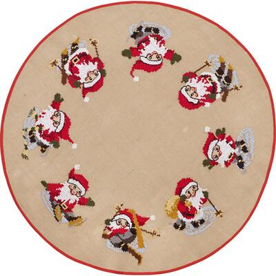 Christmas tree carpet Embroidery kit Christmas mischief