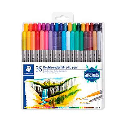 STAEDTLER 3200 Double-ended Pens, 36 pcs