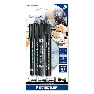 STAEDTLER Lumocolor Mix Set, 4 pcs