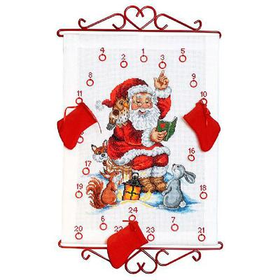 Embroidery kit Santa reads story