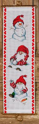 Embroidery kit Playing in the snow