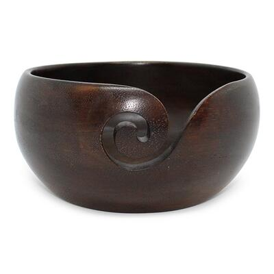 HobbyArts Yarn bowl Mango wood Tall
