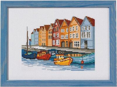 Embroidery kit Moored boats