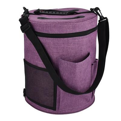 Knitting Bag Round Purple