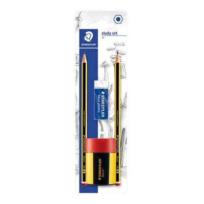 STAEDTLER Noris Eco Pencils, erasers & sharpener, 5 pcs