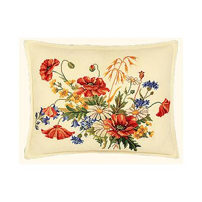 Embroidery Kit Cushion Cornflower