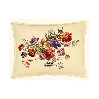 Embroidery kit Cushion French anemones