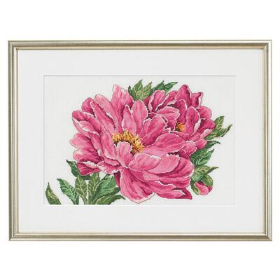 Embroidery kit Peony