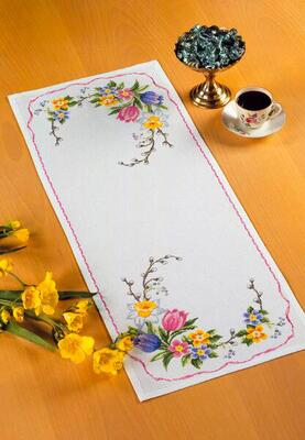 Embroidery kit Spring flowers