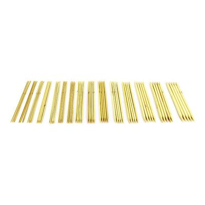 Double pointed needle Set Light bamboo, 15 sizes, 20 cm