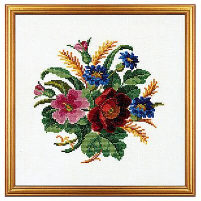 Embroidery kit Cornflower and poppy