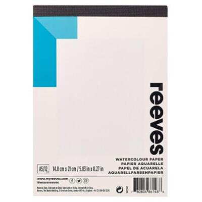 Reeves Watercolour Paper pad A5, 12 sheets