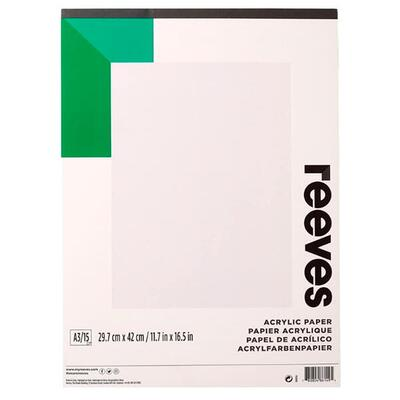 Reeves Acrylic Paper pad A3, 15 sheets