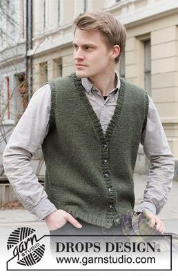 219-3 Boston Vest by DROPS Design