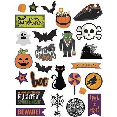 Gift Tags, Halloween, 20-100 mm, 2x24 stk.