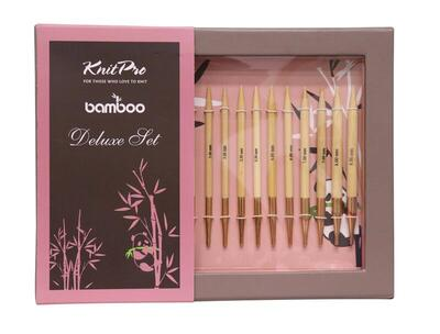 KnitPro Bamboo Deluxe Interchangeable Circular Needles Set