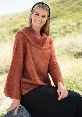 1813 Sweater with big round neck