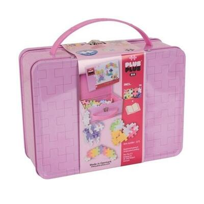 Plus-Plus LARGE in Metal Suitcase, Pastel Mix, 70 pcs