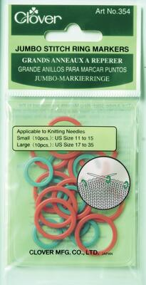 Clover Stitch Ring Markers, Jumbo (red/green)