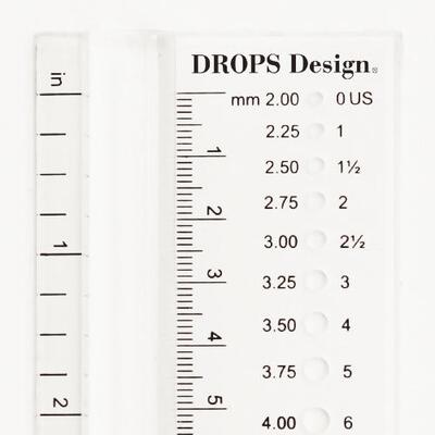 DROPS Knitting Gauge (2.00-12.00 mm)