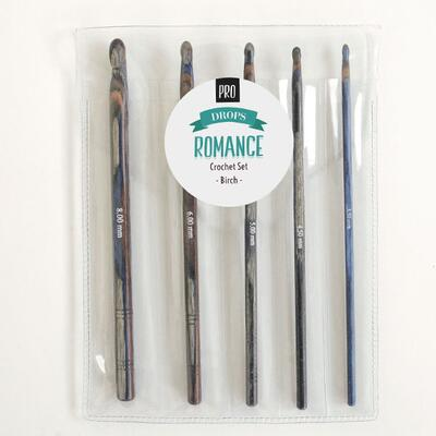 DROPS Pro Romance Crochet Hook Set (3.50-8.00 mm)