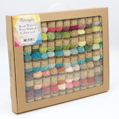 Scheepjes Stone Washed & River Washed Colour Pack - 58x10g
