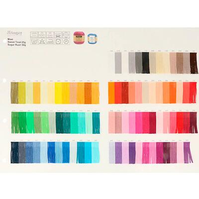 Scheepjes Colour sample card Maxi Sweet Treat & Sugar Rush