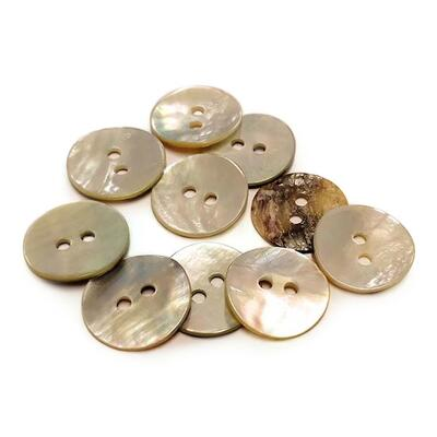 HobbyArts Mother of pearl buttons 15 mm, 10 pcs