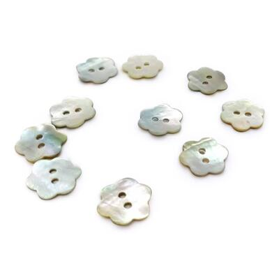 HobbyArts Mother of pearl buttons Flower 11.5 mm, 10 pcs