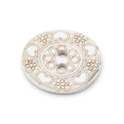 Du Store Alpakka Mother of pearl Button 12 mm (15857-24-HJE)