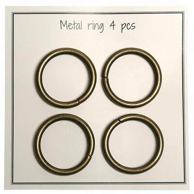 Go Handmade Metal O-ring, 4 pcs, 28mm